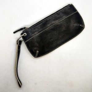 Black Leather Banana Republic Wristlet